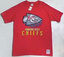 NWT Vtg 1990s Big Logo NFL T Shirt L KANSAS CITY CHIEFS arrowhead jersey hip hop