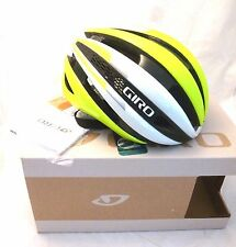 Giro Synthe Cycling Helmet White and Highlight Yellow Medium