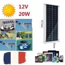 20W DC 12V/5V Batterie Panneau Solaire USB Chargeur Pour Lampe Téléphone Voiture