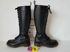 Dr MARTENS UK 4 EU 37 zip 20 eye knee hole black 12270 (1B60) High tall