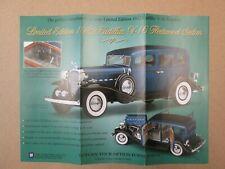 Danbury Mint Brochure 1932 Cadillac V-16 Fleetwood Sedan LE