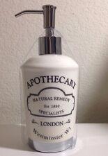 HOTEL COLLECTION APOTHECARY  CERAMIC LIQUID SOAP PUMP DISPENSER LONDON