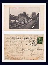 WEST VIRGINIA KEYSER LOVERS LEAP STEAM LOCOMOTIVE TRAIN DIVIDED BACK CIRCA 1907