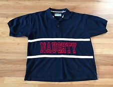 RaRe 90's NAUGHTY by NATURE Naughty Gear Polo Shirt Size 2XL XXL