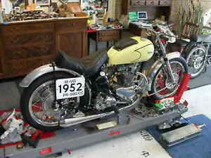 TRIUMPH PRE UNIT OR OTHER ALLOY FRONT FENDER AND BRACE