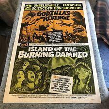 "Godzilla""s Revenge/Island Of The Burning Damned 1971 Orig 1 Sht Movie Poster VF+"