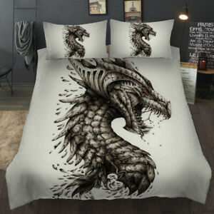 Dragon Duvet Cover Sets Bedding Set Twin Full Queen King with Pillowcase 3Pcs