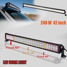240W 42Inch LED LIGHT BAR FLOOD SPOT OFFROAD WORK LAMP Off Road 4WD BOAT 12V 24V
