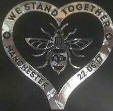 Manchester Bee Heart Decal CAR Van Window Sticker l Love chrome checker plate fx