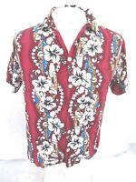 KOKO KNOT Men Hawaiian ALOHA shirt pit to pit 21 M rayon tropical luau camp VTG