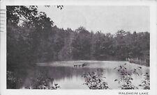 Waldheim Lake near Allentown PA handsome vintage postcard postally used in 1938