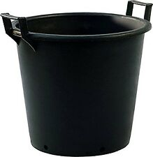 Extra Large Heavy Duty Black Plastic Container Plant Pots with Handles 30ltr