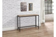 Rustic Industrial Chic Console Table Metal Frame Wood Finish