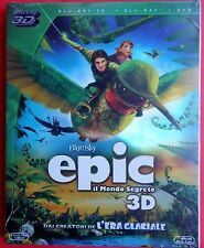 film blu ray disc cartoon epic 3D + 2D +DVD deluxe edition epic il mondo segreto