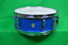 Vintage Ludwig Blue Sparkle 14 Snare Drum Keystone Badge, Ludwig snare drum
