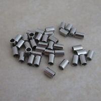 stainless steel crimp bead tubes 3mm x 2mm