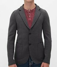 Projek Raw Knit Men's Edge Blazer with Elbow Patches, Gray, Large