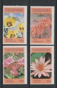 Tanzania - 1986, Flowers set - MNH - SG 474/7