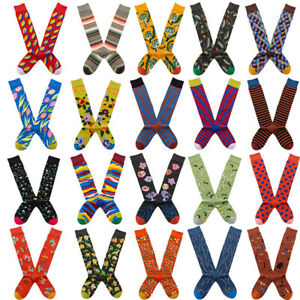 Ladies Womens Cotton Over The Knee High Socks Novelty Flower Fancy Long Stocking
