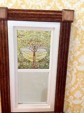 Tree of Life Dollhouse Miniature Victorian Style Stained Glass Window film