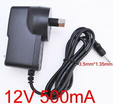 AC 100-240V Converter Adapter DC 12V 500mA 0.5A Power Supply AU 3.5mm x 1.35mm
