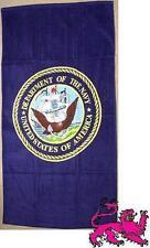 "Beach Blanket Towel Military U S Navy Emblem 30""x60"" NEW 100% Cotton"