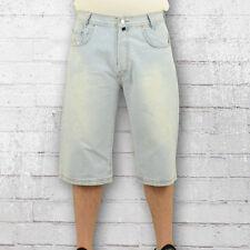 Viazoni Männer Jeans Short Ice Blue Short Denim Shorts Herren kurze Jeanshose