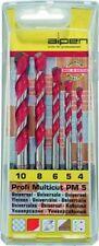ALPEN Serie set 5 punte PROFI MULTICUT PM 5  4-10 mm muro legno plastica metallo