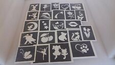 50 girls stencils for glitter tattoos / airbrush  / card making   Fundraisding