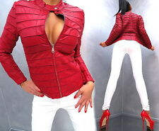 NEU LEDER OPTIK RED LEATHER LOOK Damen Top SEXY Jacke Mantel Q41 Blazer Coat XXL