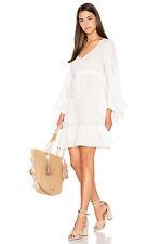 BNWT BCBG MAX AZRIA WHITE JACKLEEN GORGEOUS PEASANT DRESS WHITE ECRU SIZE XXS