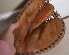 Vintage 3 Finger AHI Trapper Baseball Glove Professional Series #6233