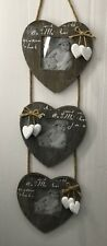 TRIPLE HEART HANGING PHOTO FRAME WOODEN NEW GIFT 394041
