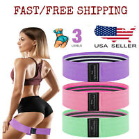 CrossFit Exercise Yoga Fitness Hip Leg Booty Resistance 3 Band Loop Workout Set
