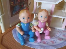 NEW FISHER PRICE LOVING FAMILY DOLLHOUSE TWINS BABY BOY & GIRL **FREE SHIPPING