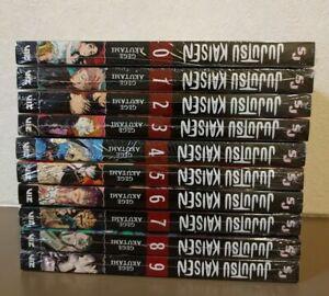 Jujutsu Kaisen English Version Vol.0-9 Set Anime 10 Books Manga New in shrink