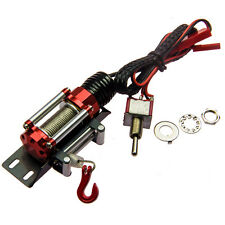 Metal Steel Wired Winch Control Unit for Axial SCX10 1/10th Scale RC Crawler Red