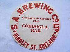SA BREWING COBDOGLA & DISTRICT CLUB COBDOGLA BAR BEER KEG LABEL 1970s SA