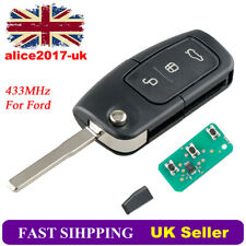 3 Button Remote Key Fob Chip For Ford MONDEO FOCUS CMAX GALAXY FIESTA 433MHZ