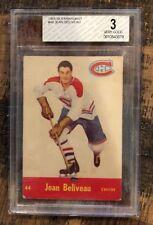 1955-56 Parkhurst Hockey- #44 Jean Beliveau - Montreal Canadians -BVG  3.0 VG