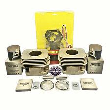 New OEM Polaris Steel Sleeved Cylinders 04-18 550F Fan Piston Gaskets IQ RMK 550