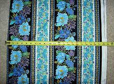 Suffolk flower flowers strip stripe metallic multi CM 4217 TT Cotton fabric