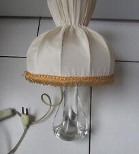 ANCIEN PIED DE LAMPE  EN CRISTAL SIGNE SCHNEIDER FRANCE