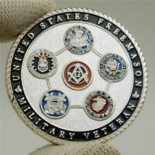 US Military Amry Marine Masonic Freemason Freemasonry Challenge Coin Collectible