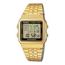 Casio 34mm Gold Digital World Time Men's Watch - A500WGA-1DF