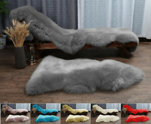 Faux Fur Sheepskin Rug Large Hairy Carpet Fluffy Mats Soft Wool Shaggy Rugs