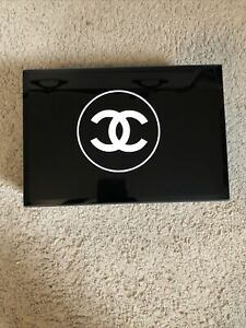 Chanel VIP Gift Organizer Jewelry Home Decor Coffee Table Large Glass Box