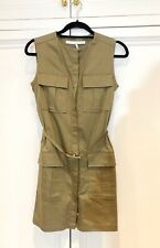victoria beckham Military Green Dress UK8