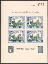 ESPAÑA - HB. SIN DENTAR - PI DE LLOBREGAT - GUERRA CIVIL - LOCALES - MNH