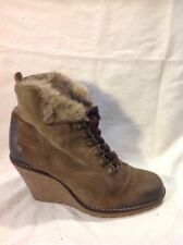 Buffalo Brown Ankle Suede Boots Size 38